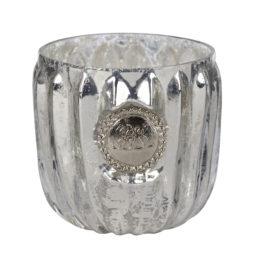 Świecznik DANTE srebrny 6 cm