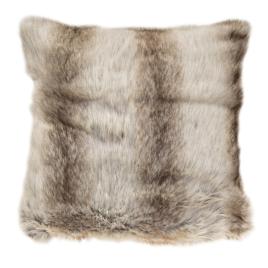 Poduszka futro białe szare 50×50